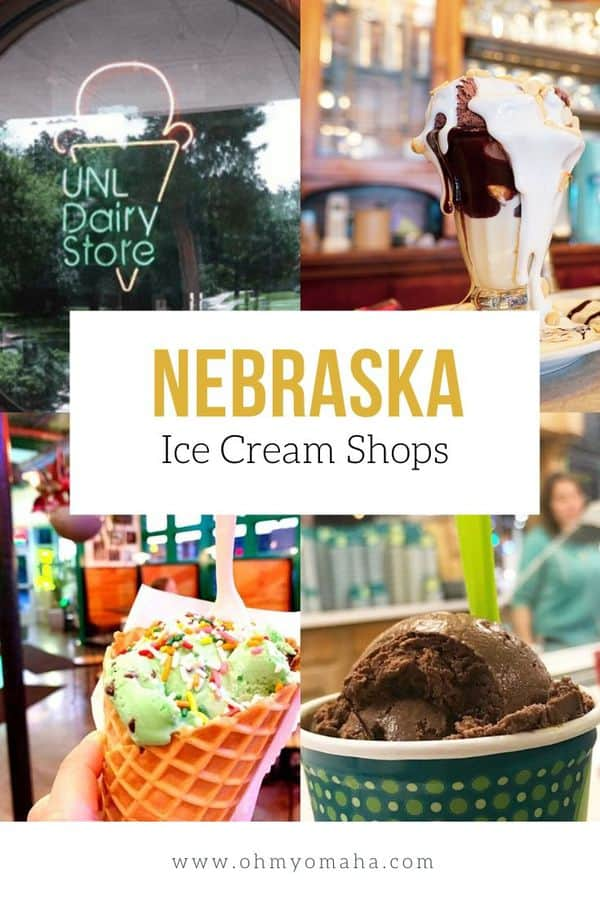 Ice cream lovers, here's where to find the sweetest treats in the state of Nebraska. Discover popular spots in Omaha, Lincoln, and beyond, including small town soda fountains! #Nebraska #USA #dessert #icecream #sweet #guide #midwest