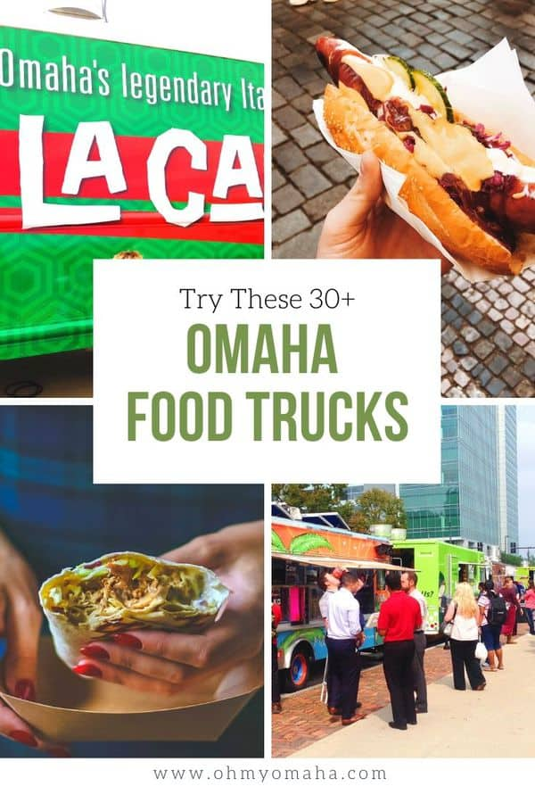 Omaha's food truck scene keeps growing! Here's a list of 35+ food trucks to seek out in the Omaha metro area, including BBQ, pizza, Thai, and Mexican. #Omaha #foodtrucks #guide #eatloca