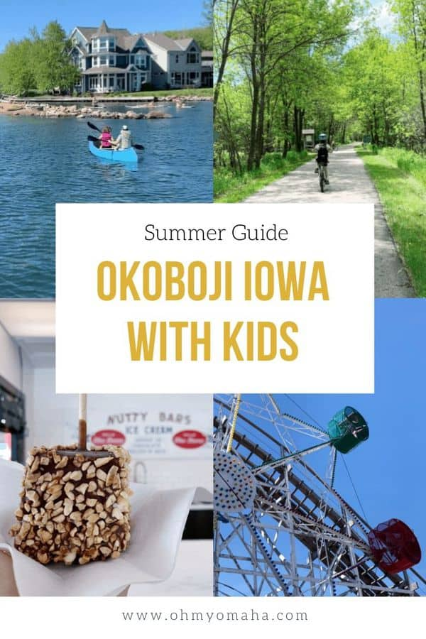 Plan a getaway to Okoboji Iowa! - Here's all the fun things families can do in Okoboji in the summer. There's plenty to do on the lakes, but discover all the other outdoor adventures, indoor recreation and kid-friendly dining options. #Guide #Midwest #FamilyTravel