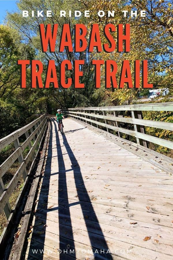 Tips for biking the Wabash Trace Trail in southwest Iowa, a dirt path running more than 60 miles. What to expect if you bring kids, where's a good place to stop for lunch, and what's the big deal about the Thursday night Taco Ride. #Iowa #outdoors #Midwest #bikeride
