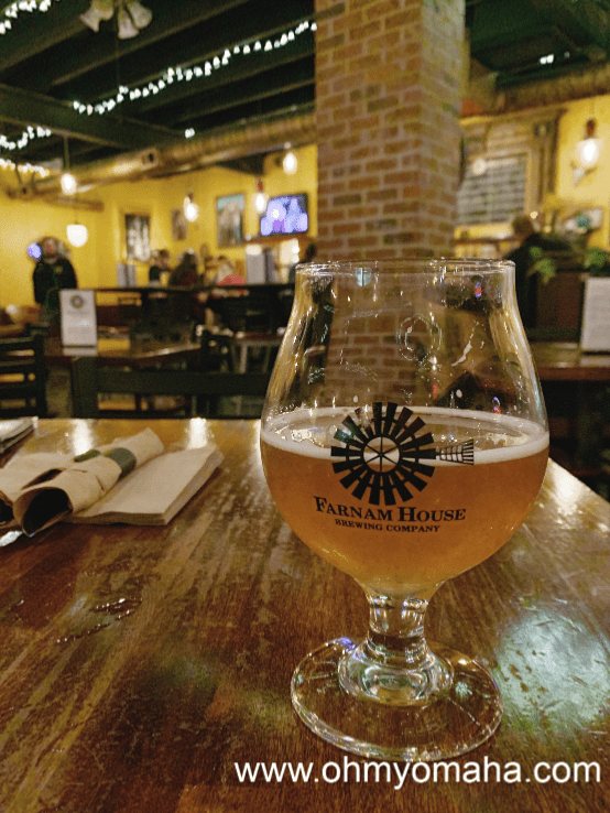 A saison at Farnam House Brewing Co. in Midtown Omaha