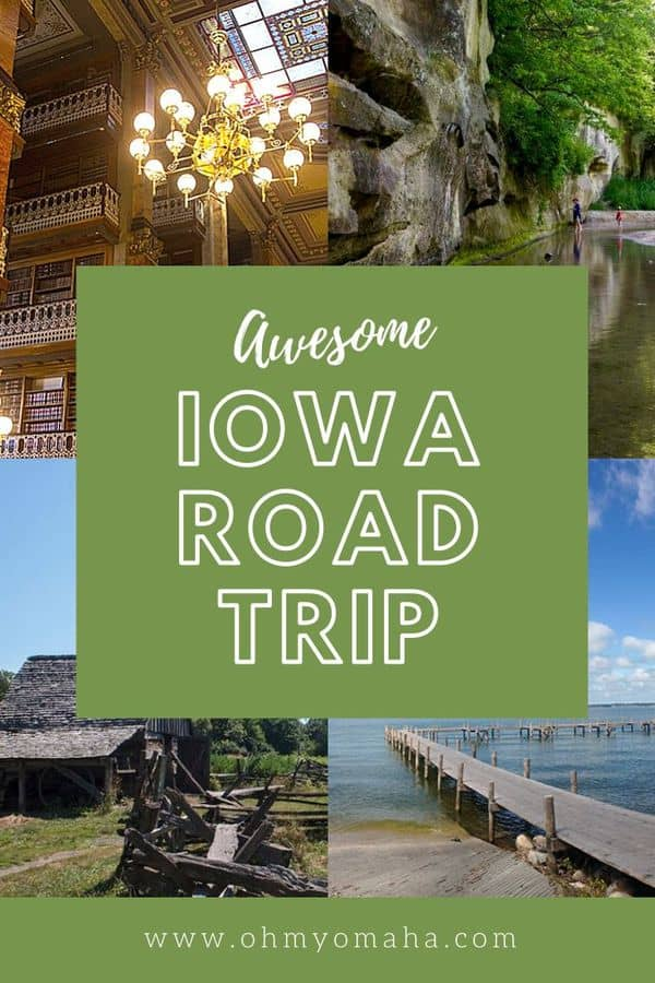 Plan a road trip through central Iowa for a low-key summer getaway! Stops include Des Moines, Boone, Clear Lake, and Ledges State Park. This Iowa vacation has a mix of water activities, art, history, and a train ride! #Iowa #Midwest #Guide #RoadTrip #FamilyTravel