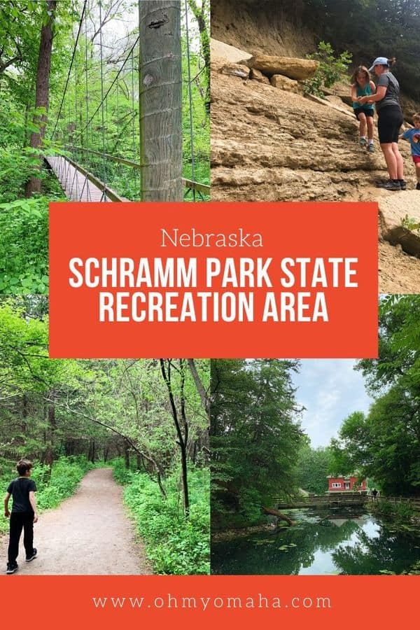 Looking for a beautiful, off-the-beaten-path park near Omaha? Check out Schramm Park State Recreation Area. Learn about the trails, Education Center, fossil dig site, and more! #Nebraska #outdoors #familytimr