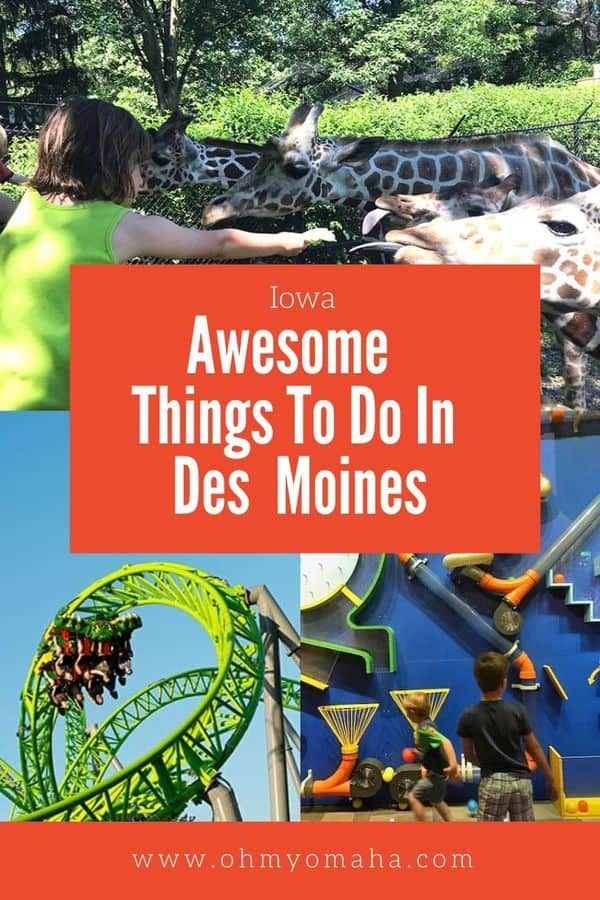 Plan a weekend getaway using this list of fun things to do in Des Moines,  Iowa. List includes attractions, must-try Des Moines restaurants, and tips  on what to do with kids. #Iowa #DesMoines #DSM #Midwest #Travel #familytravel