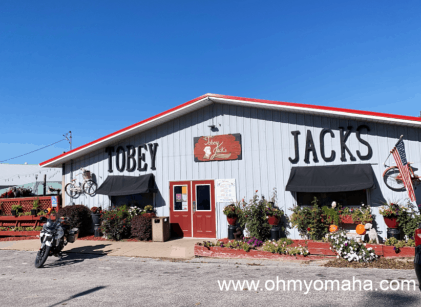 Exterior of Tobey Jacks Mineola Steak House in Iowa
