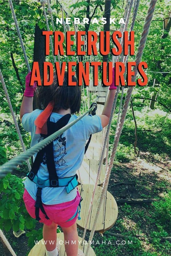 Looking for adventures near Omaha Nebraska? Check out TreeRush Adventures at Fontenelle Forest! This ropes course (with ziplines) has multiple courses for different ages and skill levels. It's a fun family activity!
