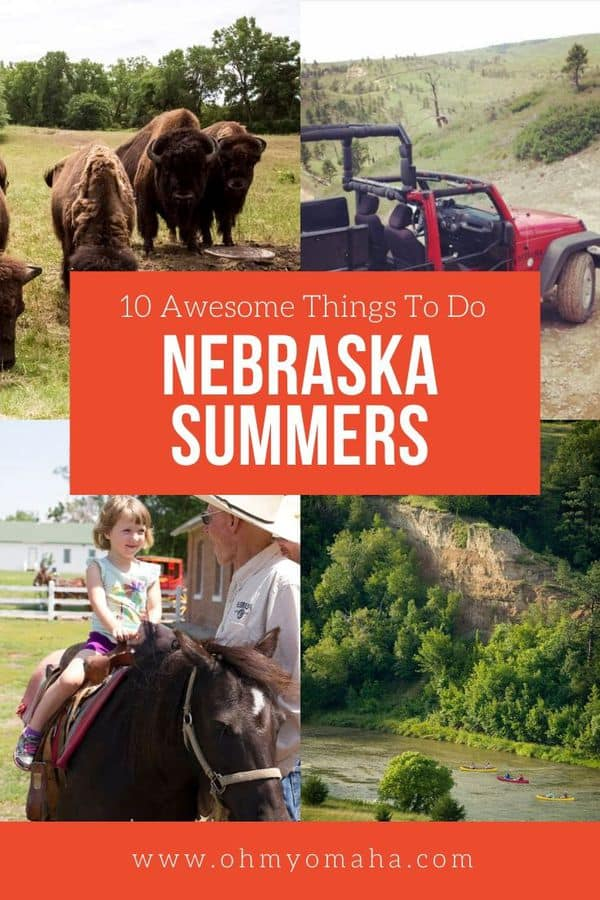 Best things to do in Nebraska in the summer, including big events & festivals, outdoor adventures like trail rides and canoeing, and unforgettable experiences like tanking and close encounters with bison. #Nebraska #USA #FamilyTravel