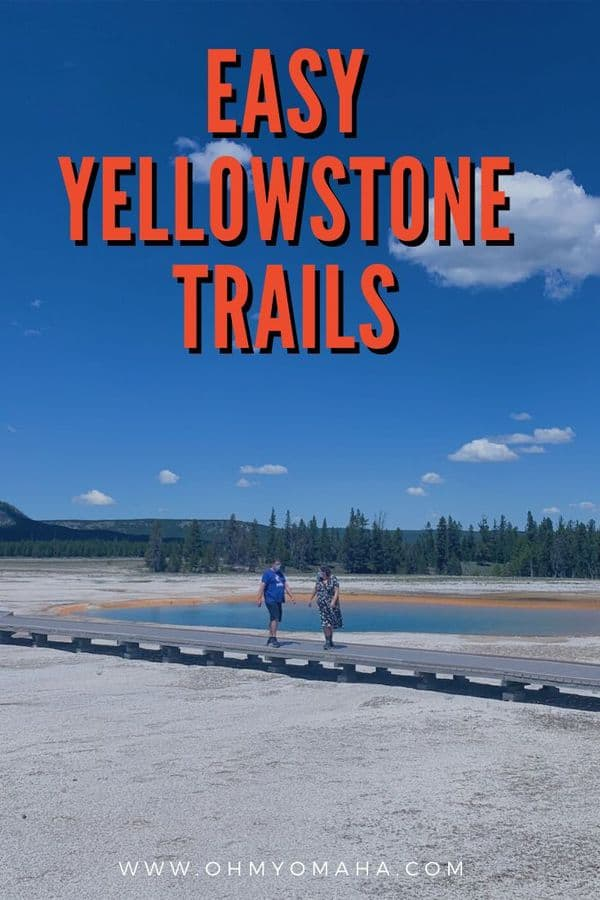Explore Yellowstone National Park by trail! Here are kid-friendly and beginner-friendly trails to try at the park, some paved and accessible and others are more of a challenge.