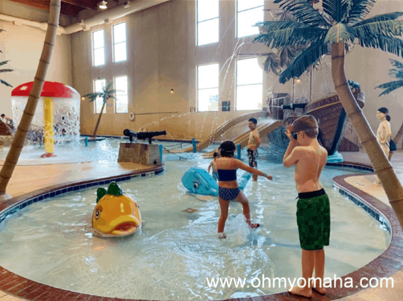 The indoor water park at the Best Western in Rapid City, South Dakota