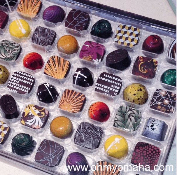 Assortment of chocolates from Christopher Elbow Chocolates in Kansas City, Mo.