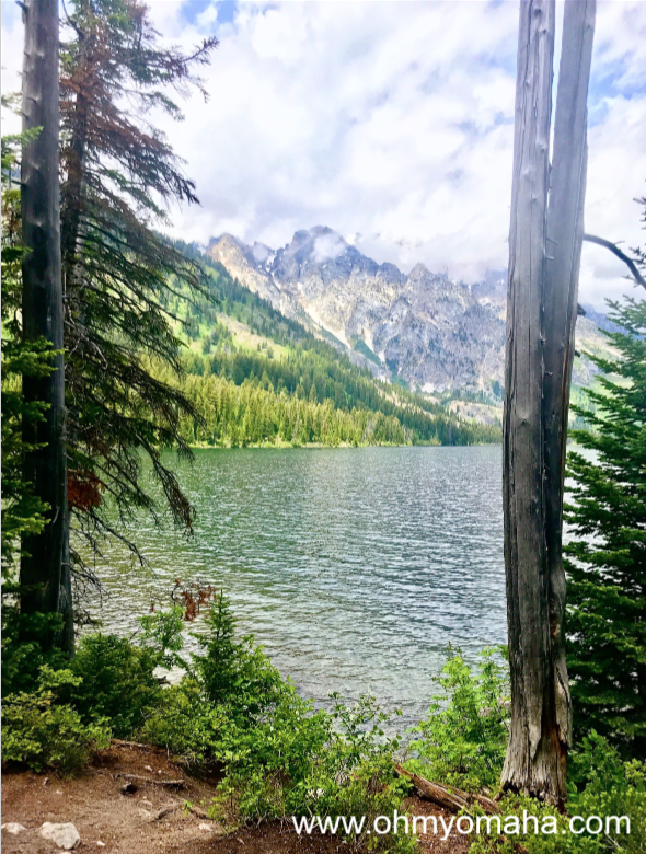 Hiking around Jenny Lake at Grand Tetons National Park offers many scenic views