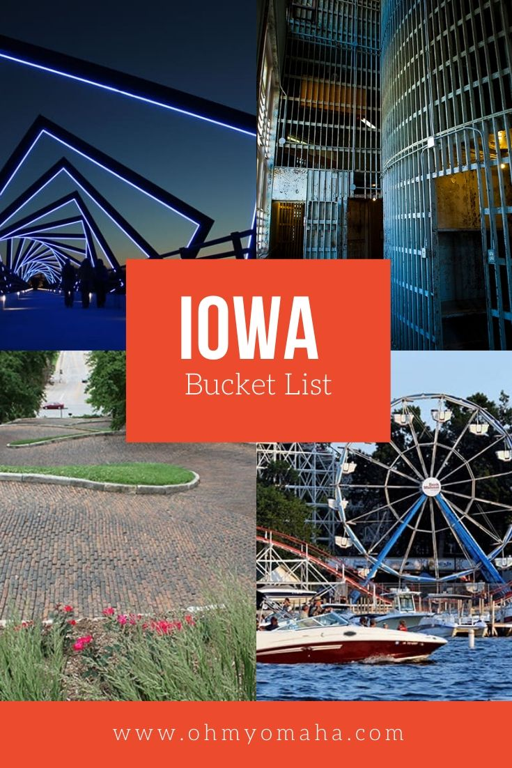 An Iowa bucket list of things to do, including seeing butter cows, caves, the croakiest street in the world, and more adventures .#Iowa #bucketlist #Midwest