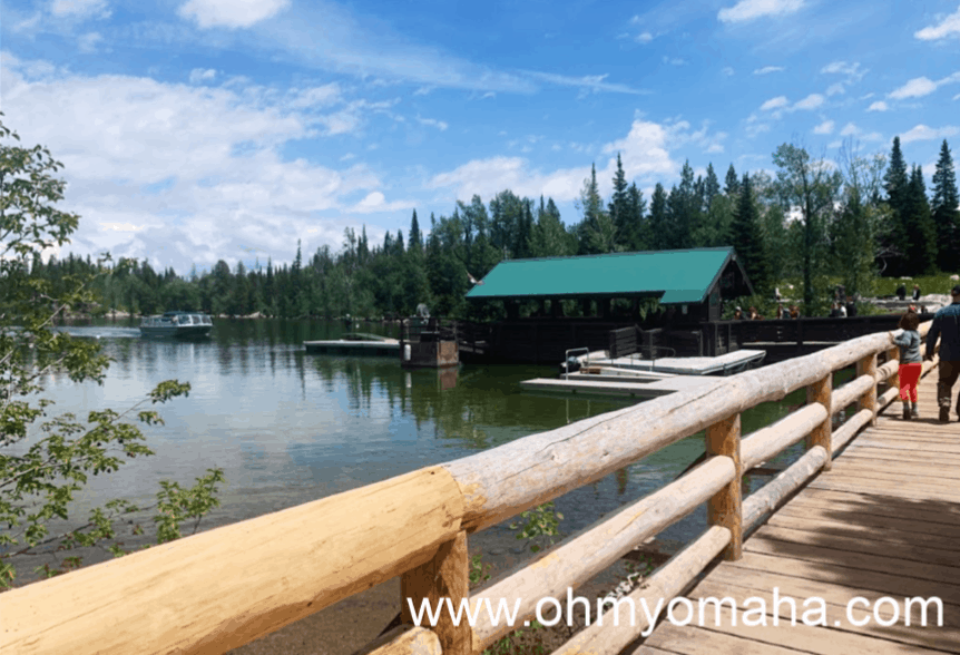 A view of the boat dock at Jenny Lake in Grand Teton National Park.