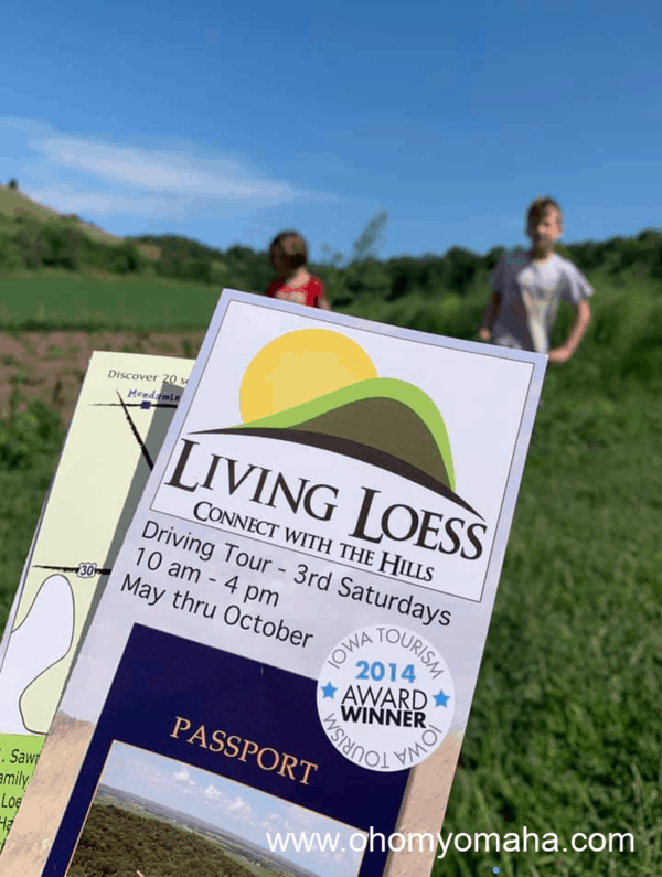Passport for the Living Loess tour in Iowa.