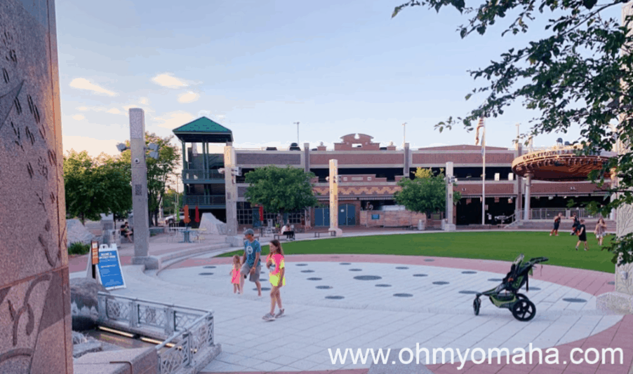 Evening at Main Street Square in downtown Rapid City, SD