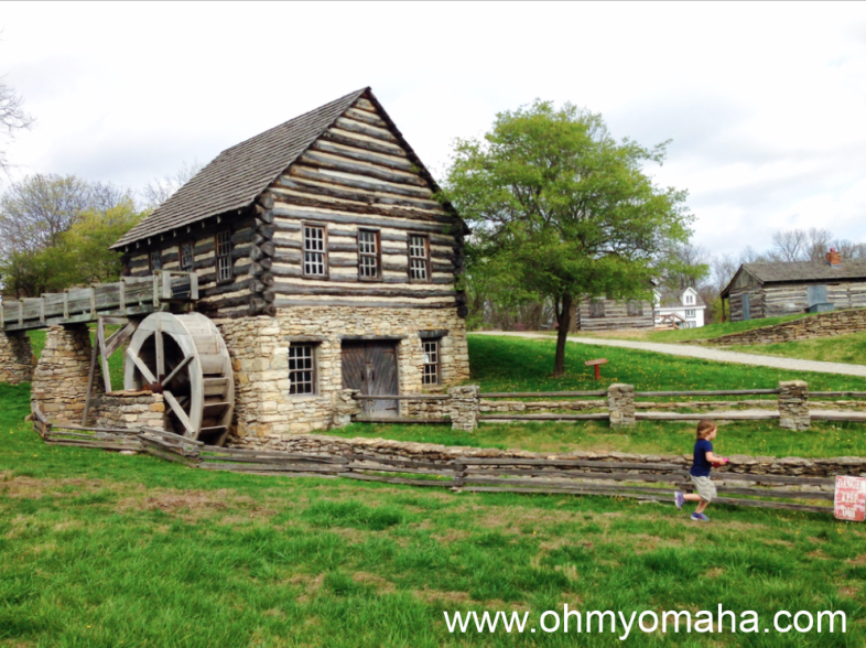 Plenty of open space to run at Shoal Creek Living History Museum in Kansas City.