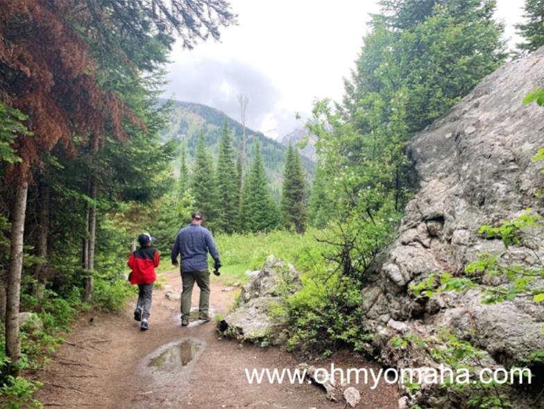 Hiking the Moose Pond Loop Trail at Grand Teton National Park.