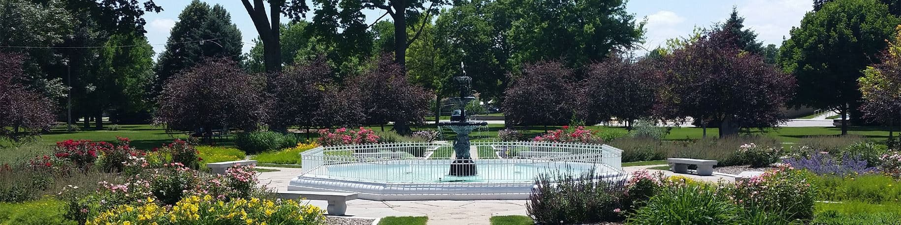 Fountain at Cottonmill Park in Kearney Nebraska