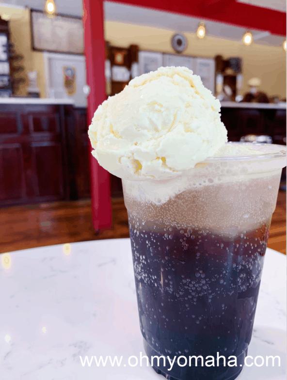 Homemade sarsaparilla float at Graley's Creamery & Confections in Papillion, Neb.