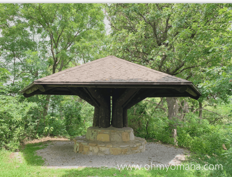 A picnic structure built by the Civilian Conservation Corps in the 1930s or 1940s