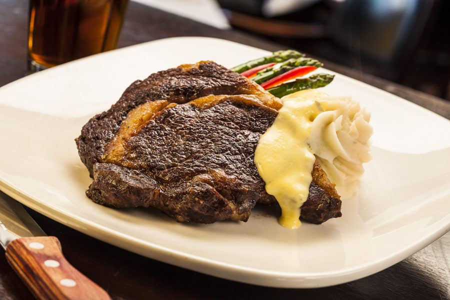 Steak meal at Archie's Waeside, a supper club in Le Mars, Iowa