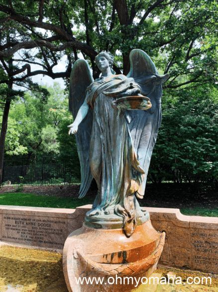 The Ruth Anne Dodge Memorial, AKA The Black Angel, in the daytime