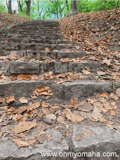 Hummel Park's crumbling stone stairs that never seem to add up to the same amount.