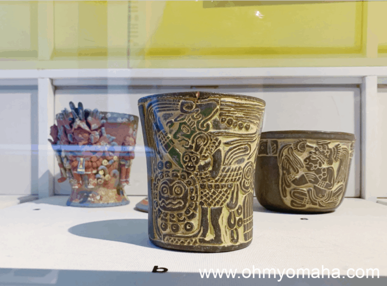 Pottery on display in the permanent collection at El Museo Latino
