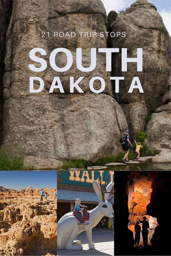 Plan some memorable stops during your South Dakota road trip! Here are scenic stops, quirky roadside attractions, and historic monuments you will want to see. PLUS, tips on where to stop to eat in South Dakota!