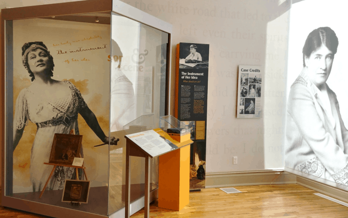 Willa Cather exhibit. Photo courtesy Nebraska Tourism