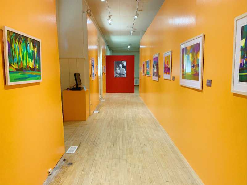 Interior of El Museo Latino