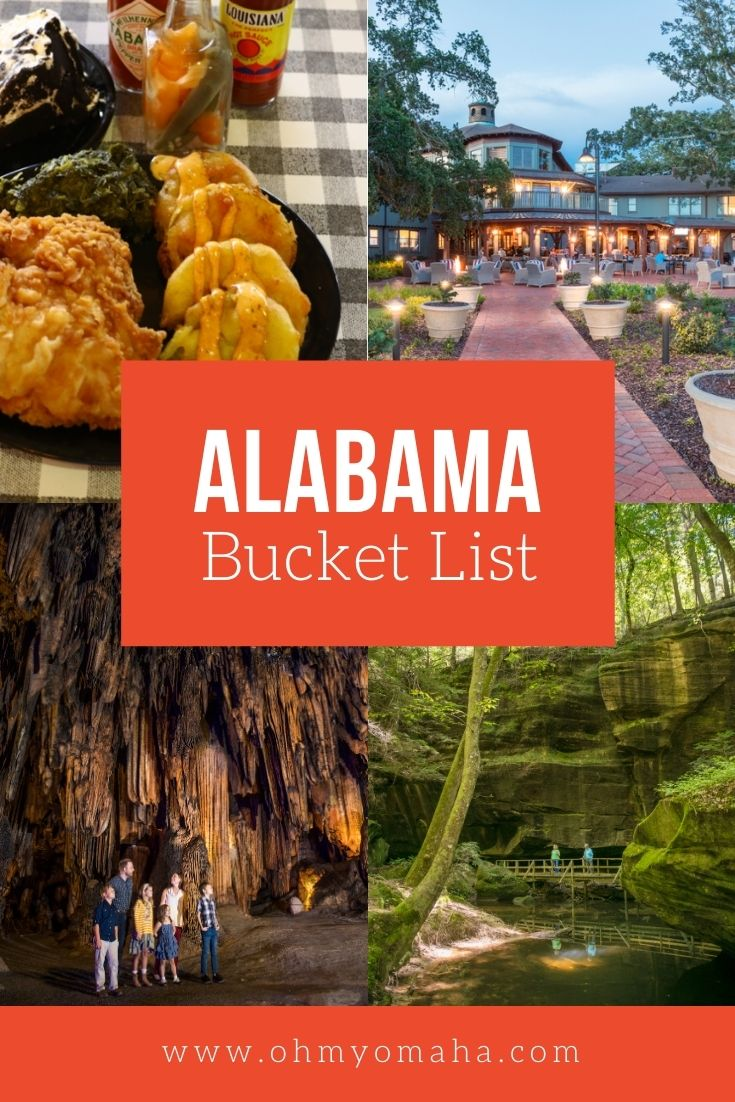 Fried green tomatoes, caves, and other culinary and outdoor adventures in Alabama - this is my Alabama travel bucket list!