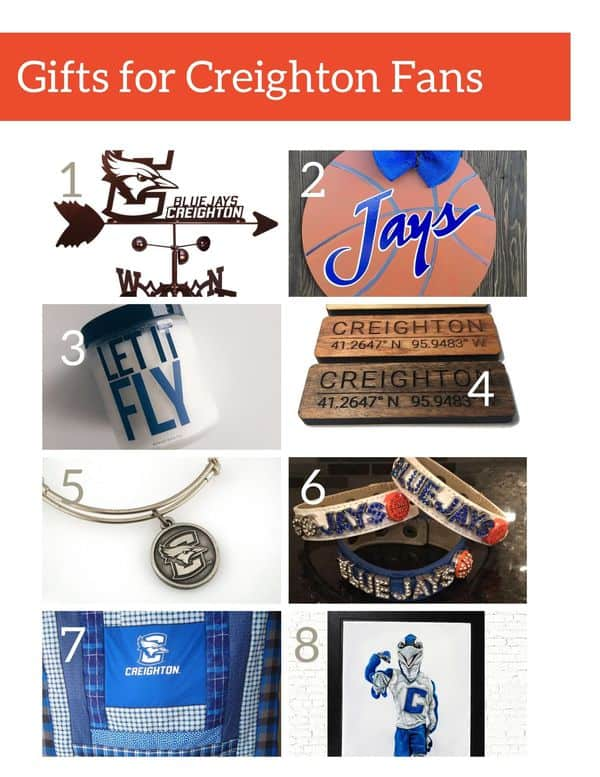 Gift guide for Creighton University fans - Unique and handmade gifts for Creighton sports fans and Creighton University students and alumni.