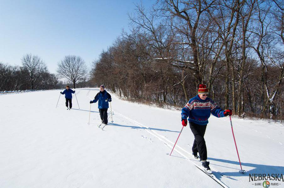 Cross country skiing in Nebraska