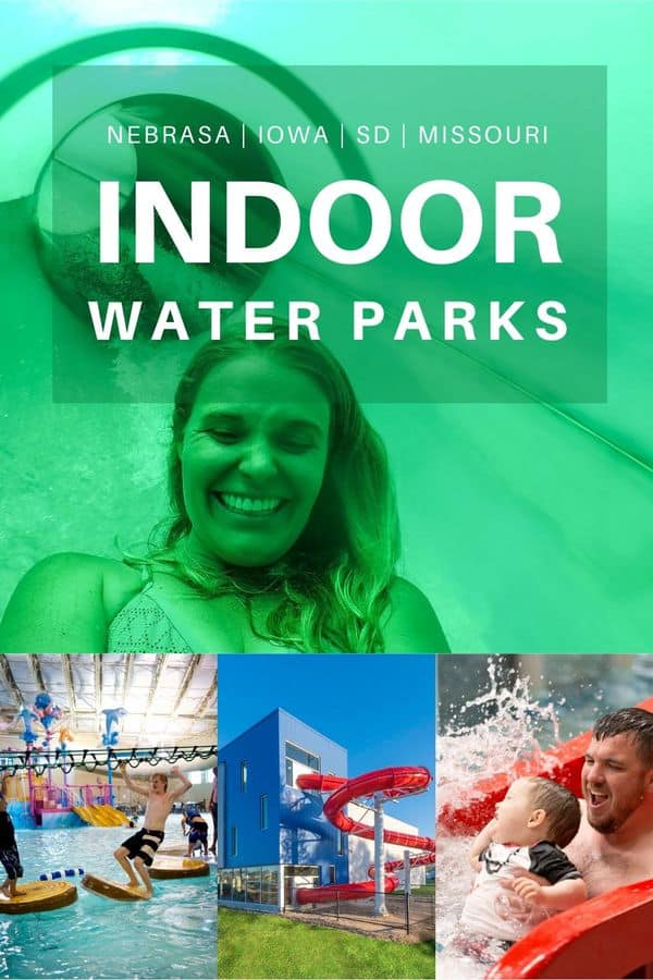 Indoor water parks make year-round vacations possible in the Midwest. Here are 15+ indoor water parks and resorts in Nebraska, Iowa, Missouri and South Dakota (all very drivable from Omaha!)