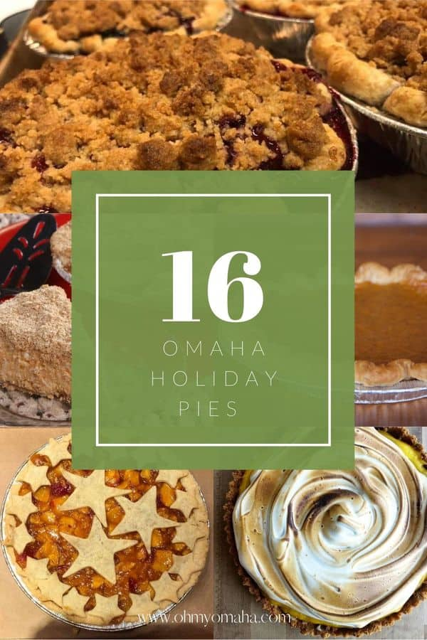Omaha area bakeries and bakers selling delicious, homemade pies for the holidays. Whether pumpkin pie for Thanksgiving, cheesecake for Christmas, or a specialty torte or cake for a different special occasion, these local shops have a great selection.