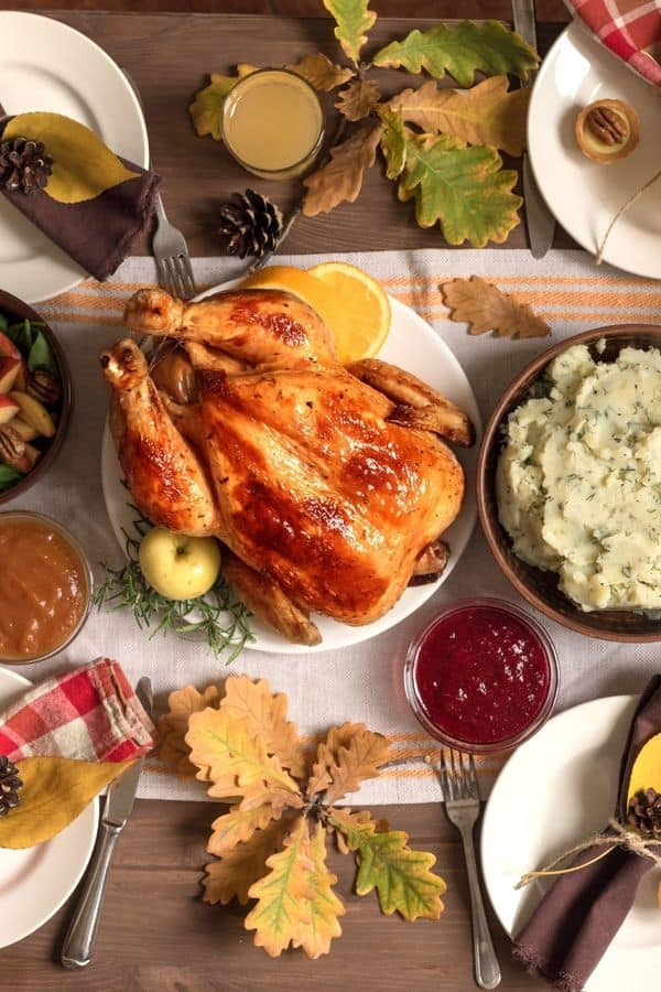 Thanksgiving table. This post features Omaha restaurants and grocers that will prepare all the food needed for a Thanksgiving meal!