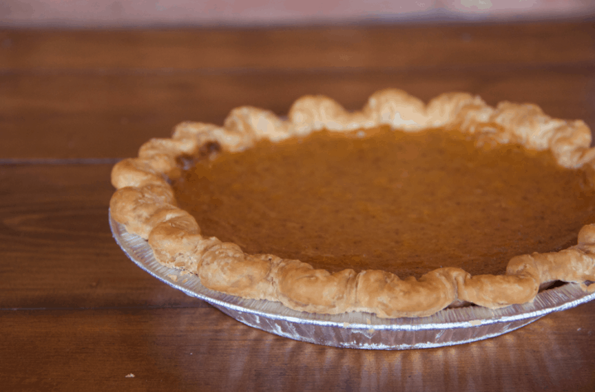 Whole pumpkin pie from Vala's