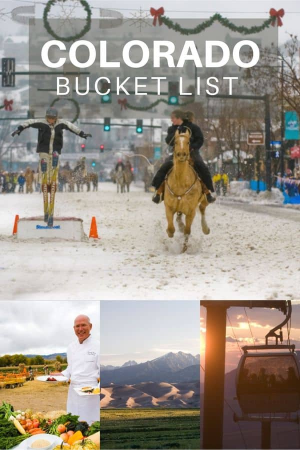 Ultimate Colorado Bucket List- A dream list of amazing restaurants, glamping sites, and unique experiences found throughout Colorado.
