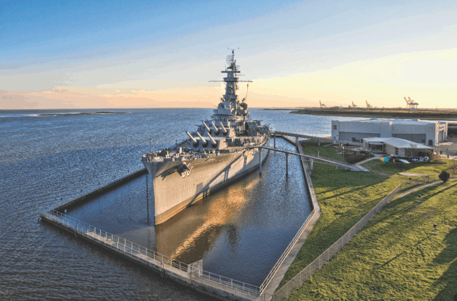Located in Mobile, the USS Alabama Battleship is open for visitors.