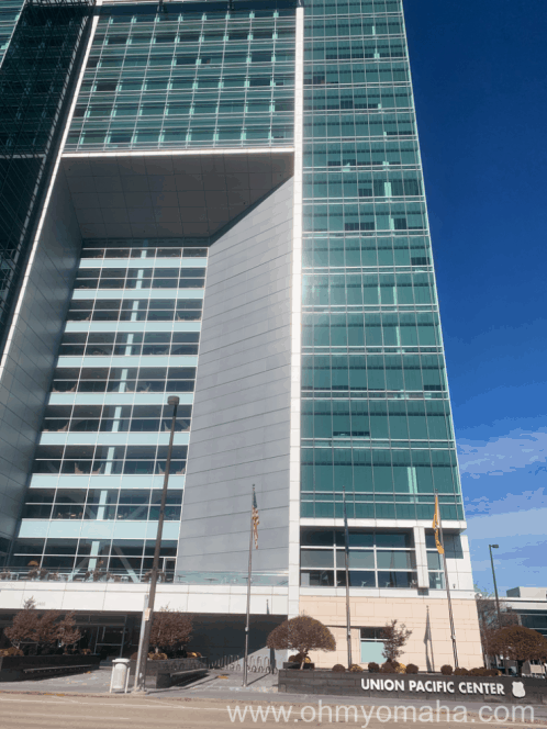 Exterior of Union Pacific Headquarters in downtown Omaha, Nebraska