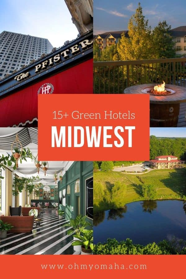 These hotels have the best sustainability practices in the Midwest! Find hotels in Iowa, Missouri, Minnesota, Wisconsin, Nebraska and Kansas that have excellent conservation practices or LEED certification.