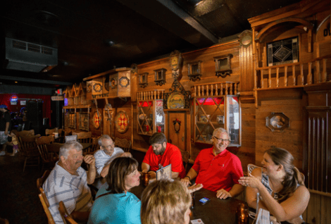 Diners at Silvercryst Supper Club in Wisconsin