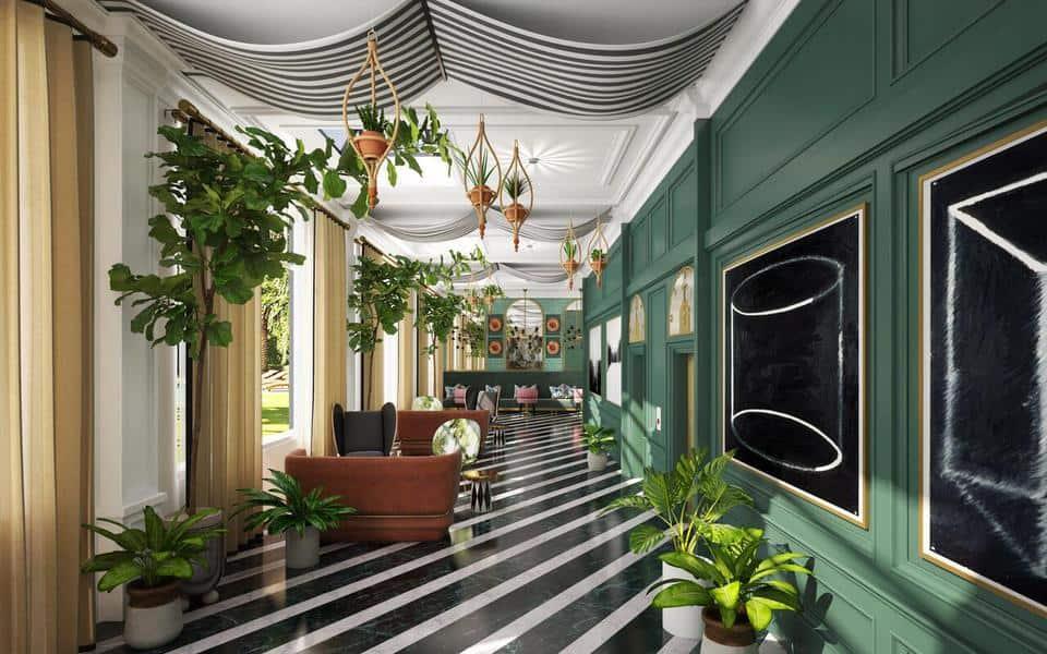 Interior of the Kimpton Cottonwood Hotel in Omaha.