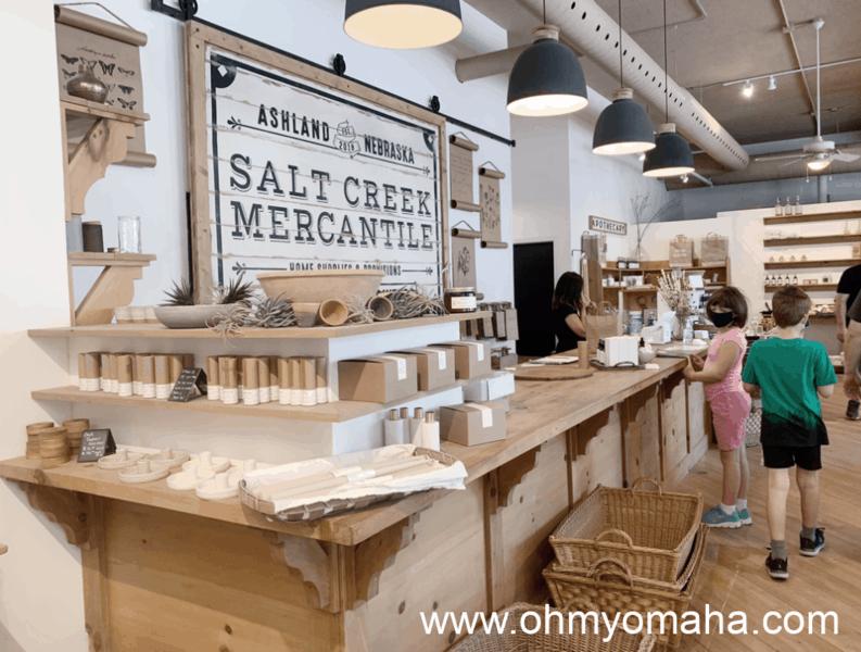 Interior of Salt Creek Mercantile in Ashland, Nebraska