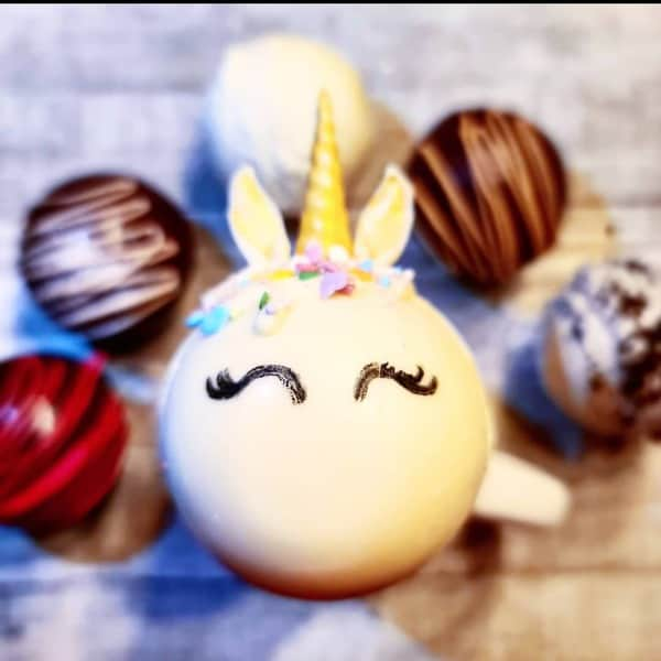 Hot cocoa unicorn bomb by Supernova Sugar Shoppe