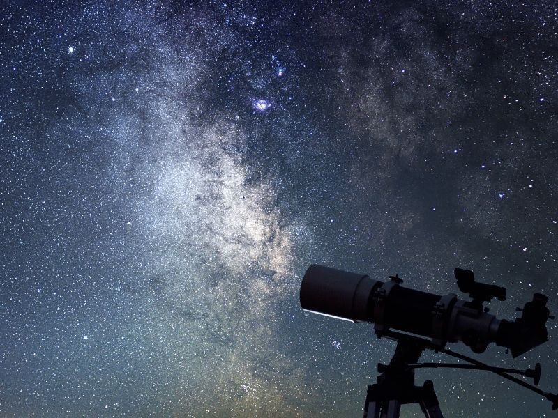 A telescope at night