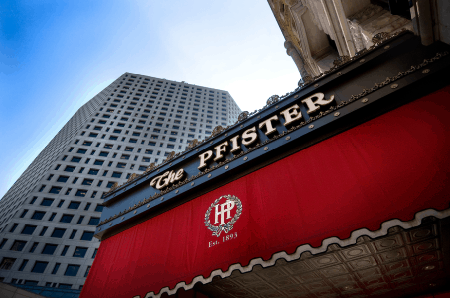 Exterior of The Pfister Hotel in Milwaukee