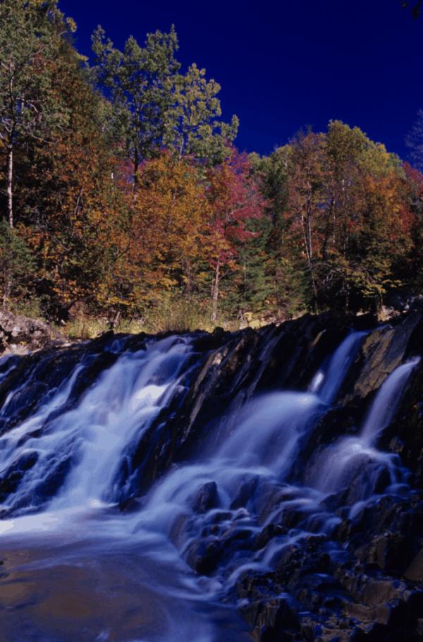 Fall at Upson Falls in Wisconsin