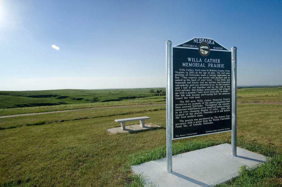 Willa Cather Memorial Prairie by day. At night, it's a good site for stargazing.